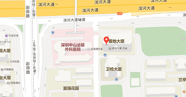 深圳深科心理咨询地图